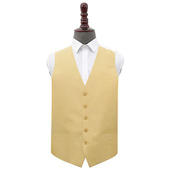 Gold Shantung Wedding Waistcoat
