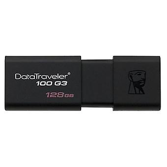 Pendrive Kingston 128 GB zwart DT100G3