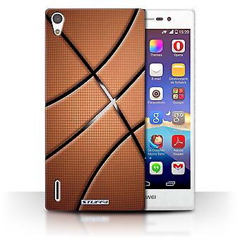 STUFF4 Phone Case / Cover for Huawei Ascend P7 LTE / Basketball Design / Sports Balls Collection
