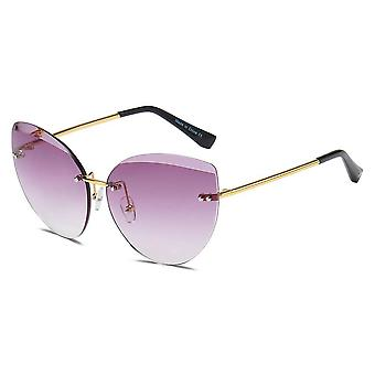 Bodelva | s2041 - women rimless round cat eye sunglasses