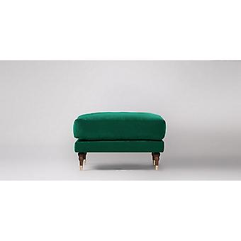 Hill Interiors Velvet Tufted Rectangle Ottoman