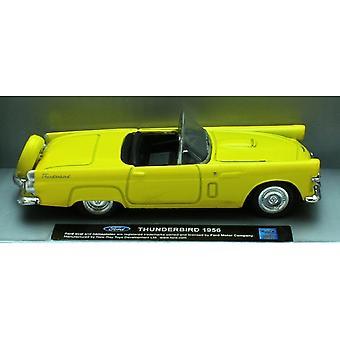 Maßstab 1:43 Die-Cast Gelb 1956 Ford Thunderbird Cabriolet