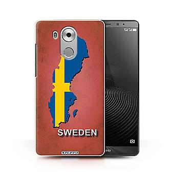 STUFF4 Case/Cover for Huawei Mate 8/Sweden/Swedish/Flag Nations