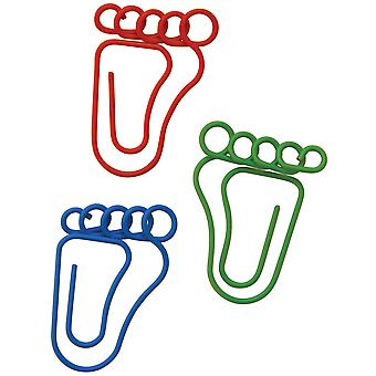 Paper Clips Carded Feet Shaped 20 Pkg 24300