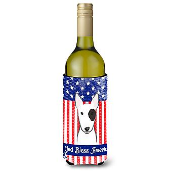 Bull Terrier Wine Bottle Koozie Hugger BB2139LITERK