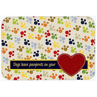 Dogs leave pawprints on your heart Kitchen or Bath Mat 24x36 SB3054JCMT