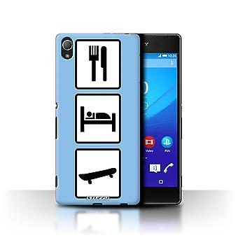 STUFF4 Case/Cover for Sony Xperia Z4/Skate/Skateboard/Blue/Eat/Sleep