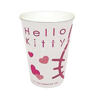 Hello Kitty papel tazas cumpleaños artículos de fiesta, decoraciones para la mesa