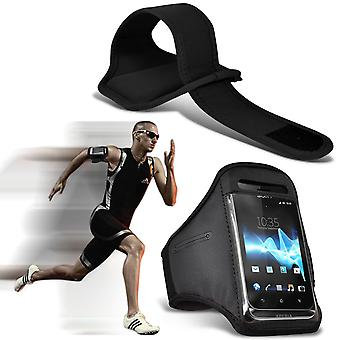 ( Black ) HomTom 3500 case High Quality Fitted Sports Armbands Cover By i-Tronixs