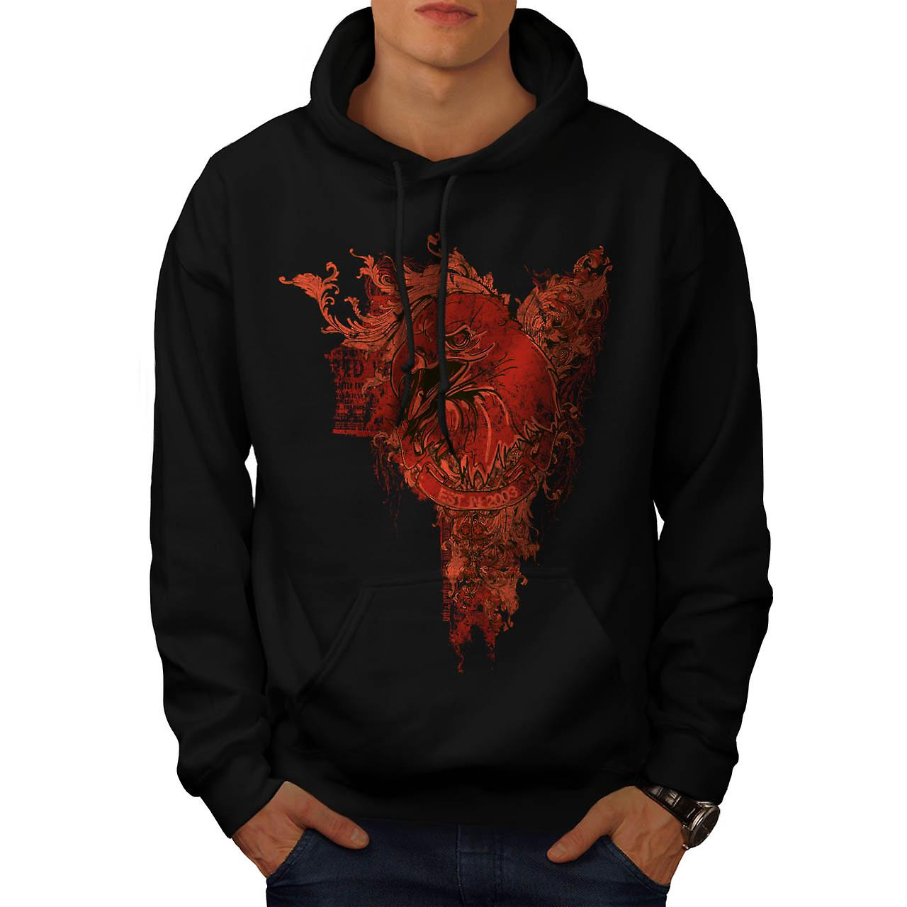 Evil Bird Prey Chill Eagle Death Men Black Hoodie | Wellcoda