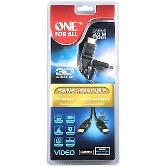 One For All Cc4010 Cable hdmi to hdmi video