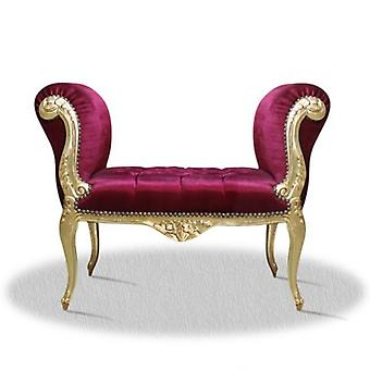 baroque banket  stool armchair carved  antique style NkSo0319GoRtvelour velvet