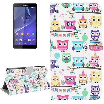 Mobile case bag for mobile phone Sony Xperia Z3 colorful OWL party