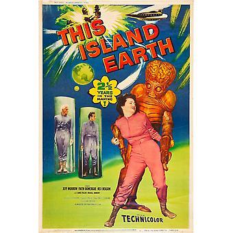 This Island Earth Jeff Morrow Rex Reason Faith Domergue 1955 Poster Art Movie Poster Masterprint