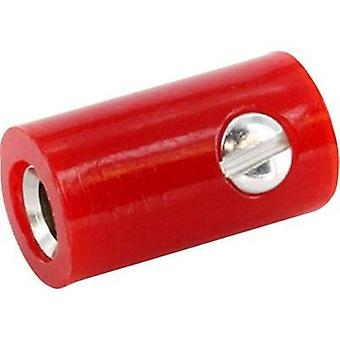 Jack plug Connector, straight Pin diameter: 2.6 mm Signal red econ connect HOKSRT 1 pc(s)