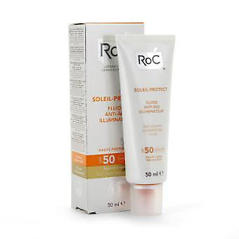 Roc Soleil-Protect Anti-Ageing Illuminating Fluid Spf 50 - 50 ml