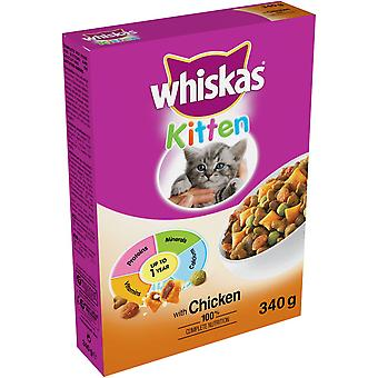 Whiskas Dry Kitten With Chicken 340g (Pack of 6)