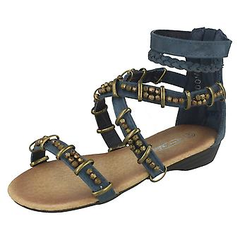 Girls Cutie Beaded Cross Over Strap Sandals