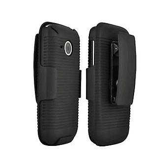 HTC Droid Eris 6200 Shell / Holster Combo - Black (Bulk Packaging)