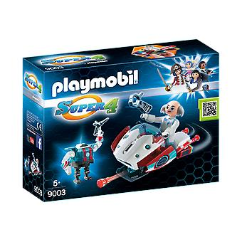 Playmobil 9003 Super 4 Skyjet with Dr. X and Robot