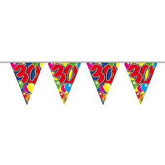 Wimpelkette 10m Zahl 30 Jahre Geburtstag Deko Party Girlande