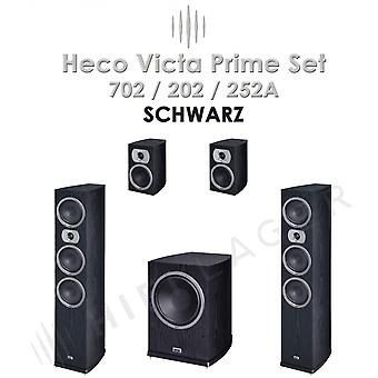 Heco Victa Prime 702/202/252A SET, color: black, series II, new merchandise,.