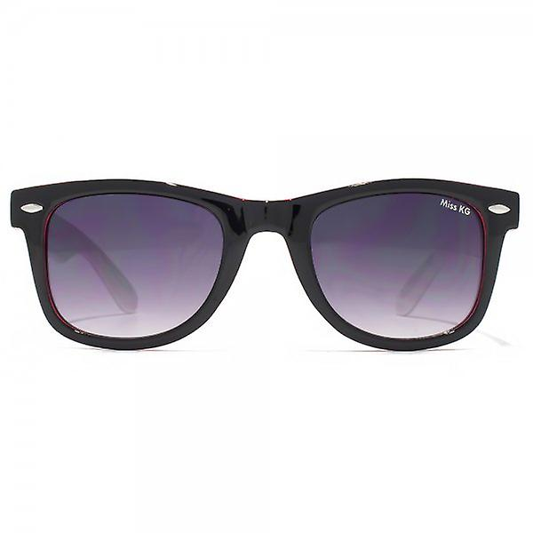 Miss KG Retro Style Sunglasses In Black On Pink