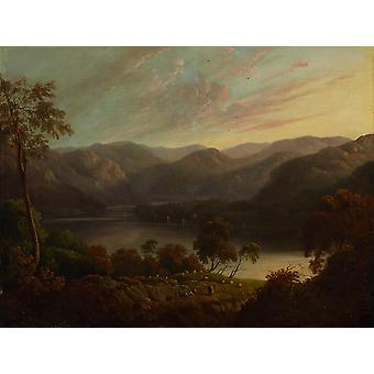 John Glover - Landscape view in Cumberland Poster Print Giclee