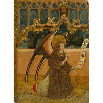 Unknown - Archangel Gabriel from an Annunciation Poster Print Giclee