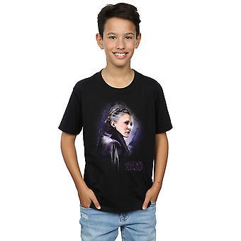 Star Wars Boys The Last Jedi Leia Brushed T-Shirt