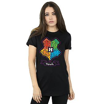 Junior de Poudlard Crest Boyfriend Harry Potter féminin Fit T-Shirt