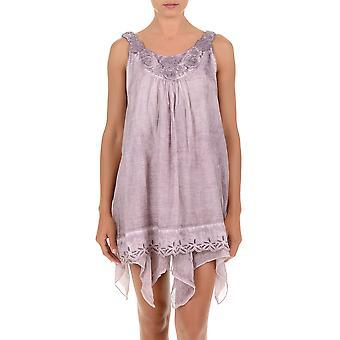 Iconique Cipria Purple Cotton Sleeveless Beach Dress 621-KO