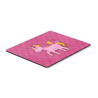 Carolines Treasures  BB7408MP Unicorn Watercolor Mouse Pad, Hot Pad or Trivet