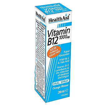 Health Aid Vitamin B12 (Cyanocobalamin) 1000mg 20ml Spray
