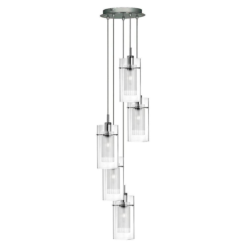 Searchlight 2305-5 Duo I, 5 Light Disc Ceiling Pendant