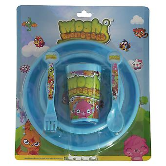 Moshi Monsters Childrens/Kids Official 5 Piece Dinner Set