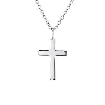 Cross - 925 Sterling Sølv Plain halskæder - W23539X
