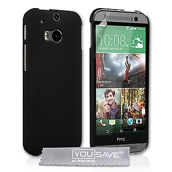 HTC um M8 híbrido difícil caso - preto