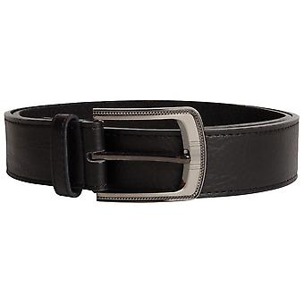 Duke Mens Samuel Large Buckle Leather Belt