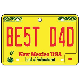 New Mexico - Best Dad License Plate Car Air Freshener