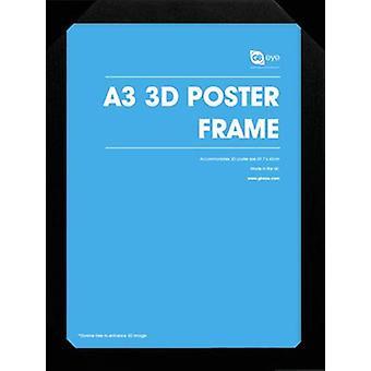 Holz-Plakatrahmen A3 3d / schwarz