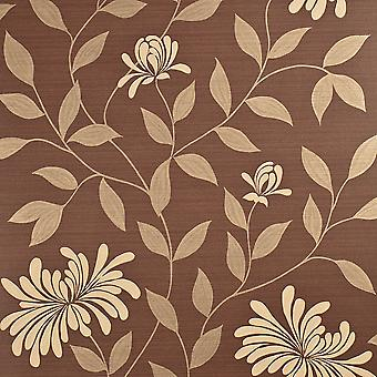Harlequin Brown & Gold Wallpaper Roll - Decadence Adore Design - Colour: 30725