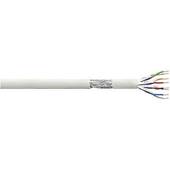Network cable CAT 6 S/FTP 4 x 2 x 0.10 mm² Grey