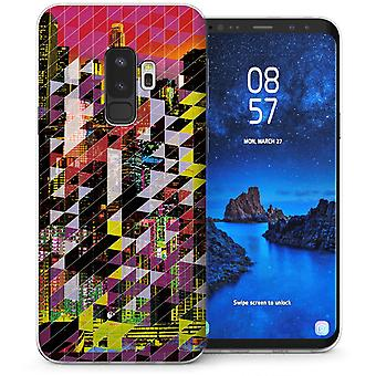 Samsung Galaxy S9 Plus Digital City Skyline TPU Gel Case-rot