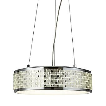 Baltimore Chrome Round Led Pendant - Searchlight 4398-8cc