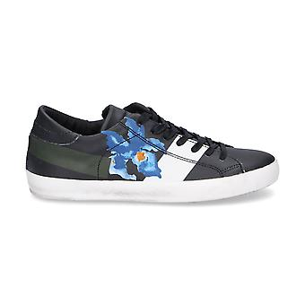 Philippe model men's CLLUIV03 black leather of sneakers