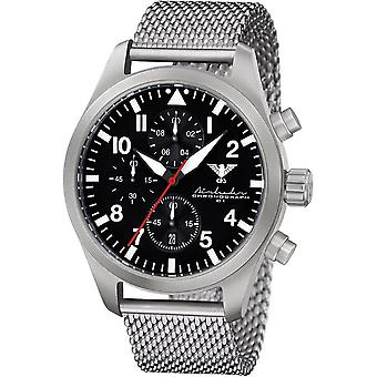 KHS mens watch Airleader Steel Chronograph KHS. AIRSC.MS