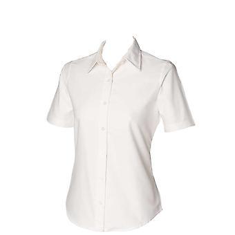 Henbury Womens Short Sleeve Classic Oxford shirt
