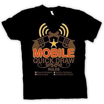 Kinder T-shirt - Mobile Quick Draw Regeln - lustig