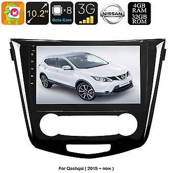 One DIN Android Nissan Qashqai Media Player